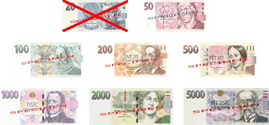 czech-banknotes