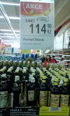 распродажа ликера Fernet Stock