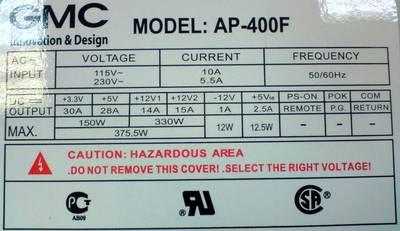 GMC-AP-400F