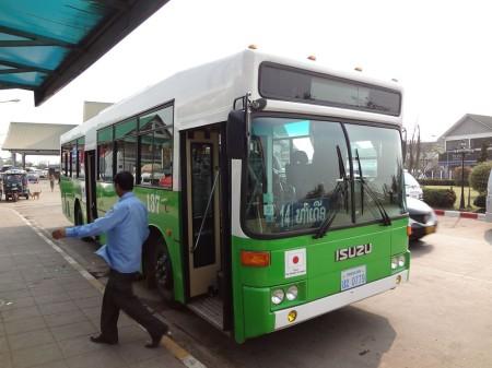 Автобус от Моста Дружбы до Вьентьяна