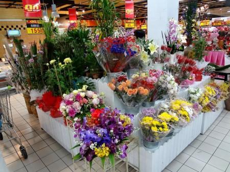 Живые цветы в Big C
