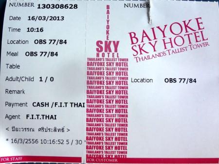 Билет на смотровую площадку Baiyoke Sky