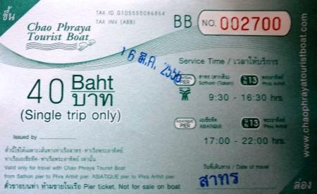 Билет на спид-бот по Чао Прайе