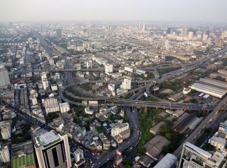 Вид на Бангкок с 84 этажа Baiyoke Sky